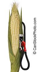 ethanol - corn stalk ethanol gas pump