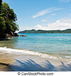 Manuel Antonio Beach - View over Manuel Antonio beach, Costa...