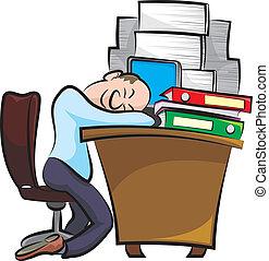 break in the office