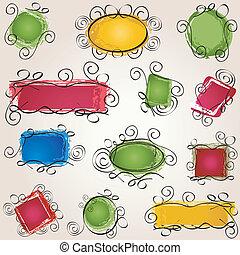 frames pack - simple swirl doodle frames pack