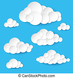 Abstract paper clouds