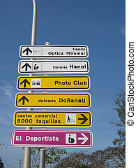 city direction sign
