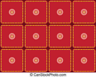 pattern with sewed pieces of fabric