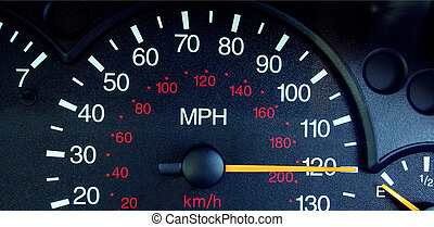Dangerous driving - Photo of a speedometer showing a speed...