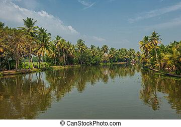Kerala,  backwaters,  India