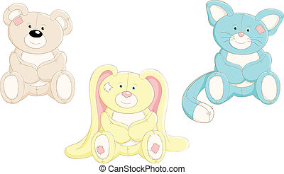 Vector set of cute toys