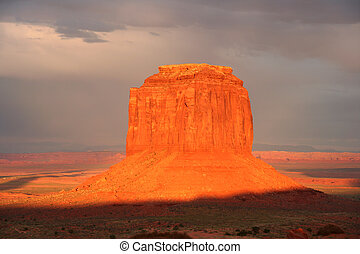 Monument valley at sunset 2