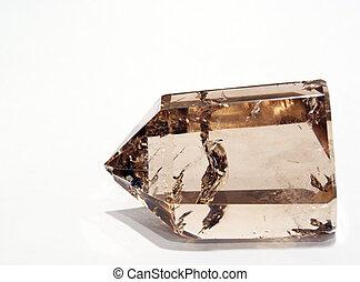 Smoky Quartz Crystal in artificial light - A Smoky Quartz...