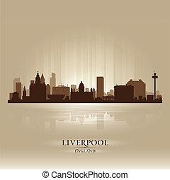 Liverpool England skyline city silhouette