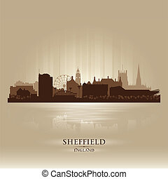 Sheffield England skyline city silhouette