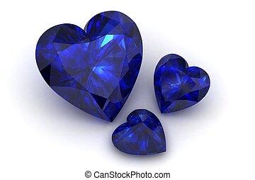 Blue Sapphire - blue sapphire (high resolution 3D image)
