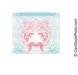 japanese koi vector background