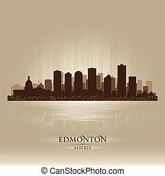 Edmonton Alberta skyline city silhouette Vector illustration...