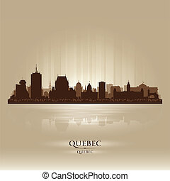 Quebec Canada skyline city silhouette. Vector illustration