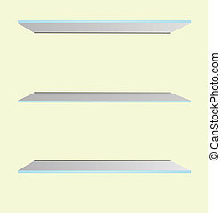 Glass Shelves on the Wall Vector