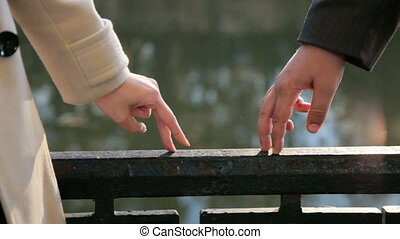 Hands of a loving couple