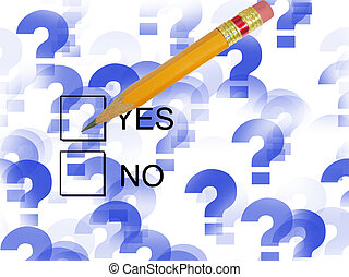 Check Yes - check boxes with pencil in the yes box