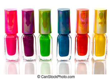 nailpolish - a lot of colorful nailpolish