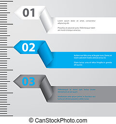 Ribbon infographic design