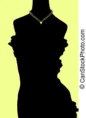 Golden Necklace on Silhouette