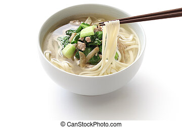 zha cai rou si mian, chinese noodle - noodle with shredded...