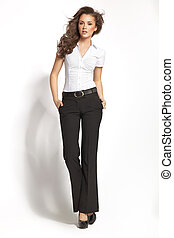 Business style of young attractive woman