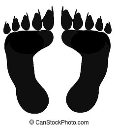 Human Feet With Animal Claws - Big human shaped feet with...