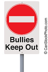 Anti-Bullying Road Sign - A road sign against bullying