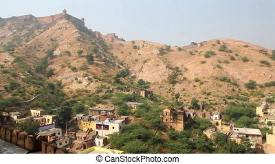 landscape near fort in Jaipur India
