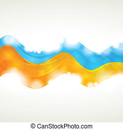 Vibrant vector wavy background