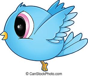 Cute Blue Bird Vector Art