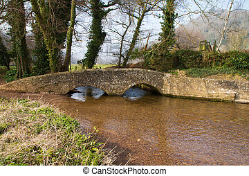 Dunster Somerset Gallox Bridge - Gallox Bridge Dunster,...