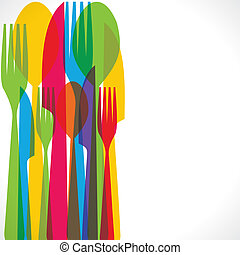 fork background - colorful fork and spoon background stock...