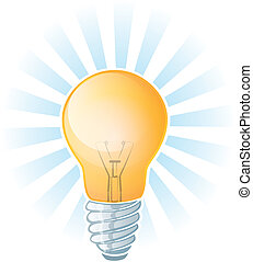 Light Bulb - Glowing Lightbulb Illustration
