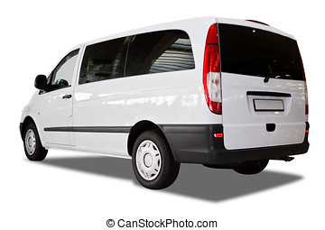 Commercial van - Photo of commercial van isolated over white...