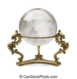 Crystal Ball isolated on a white background with a clipping...
