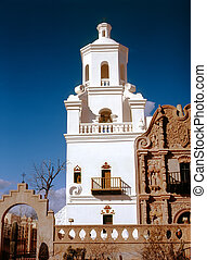 San Xavier Mission - Old Spanish mission San Xavier del Bac...