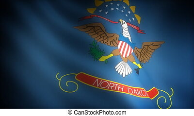 Flag of North Dakota seamless