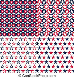 USA star seamless pattern - illustration set of star and...