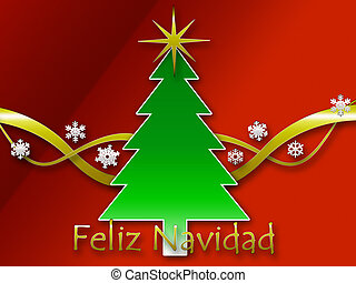 Feliz Navidad background - A Feliz navidad background with...