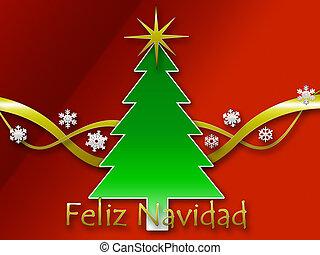 Feliz Navidad background - A Feliz navidad background with...