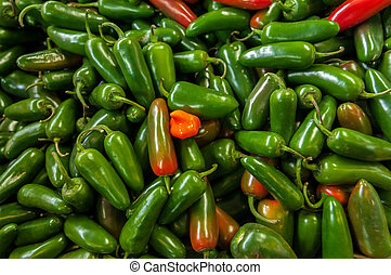 Delicious Green Jalapenos - Lots of green jalapenos in a...