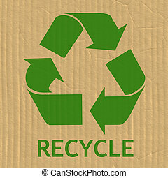 Recycling Symbol Message