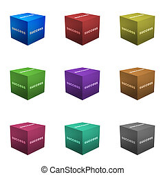 Success Boxes in 3d Cube Format