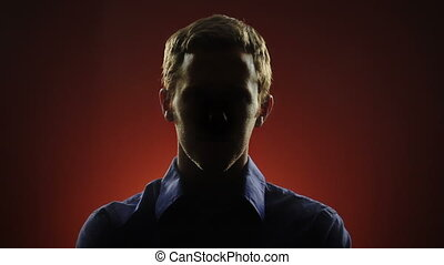 Anonymous Man - A businessman, whose face is hidden in...