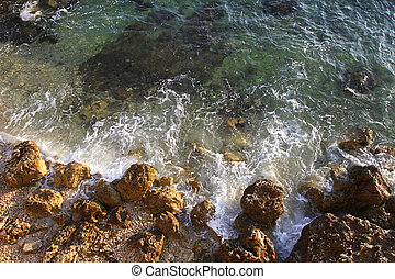 Adriatic coast - Adriatic sea and rough coast with rocks