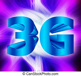 3G network symbol - abstract of 3G network symbol