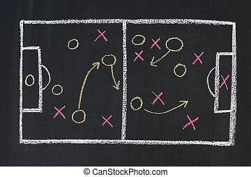 Sports strategy - Scheme of sports strategy, drawn on a...
