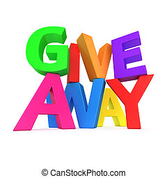 "Text ""Giveaway"" made from multicolored letters"
