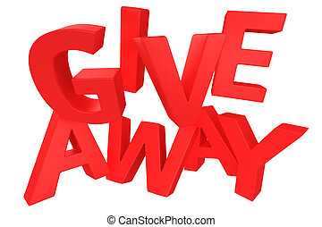 "Giveaway in red - Word ""Giveaway"" made by red letters..."